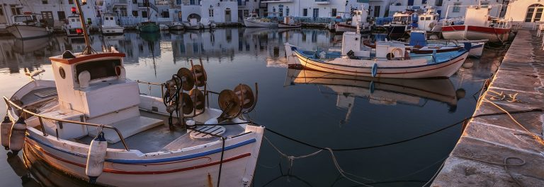 Typical Greek islands' village of Naousa, Paros island, Cyclades