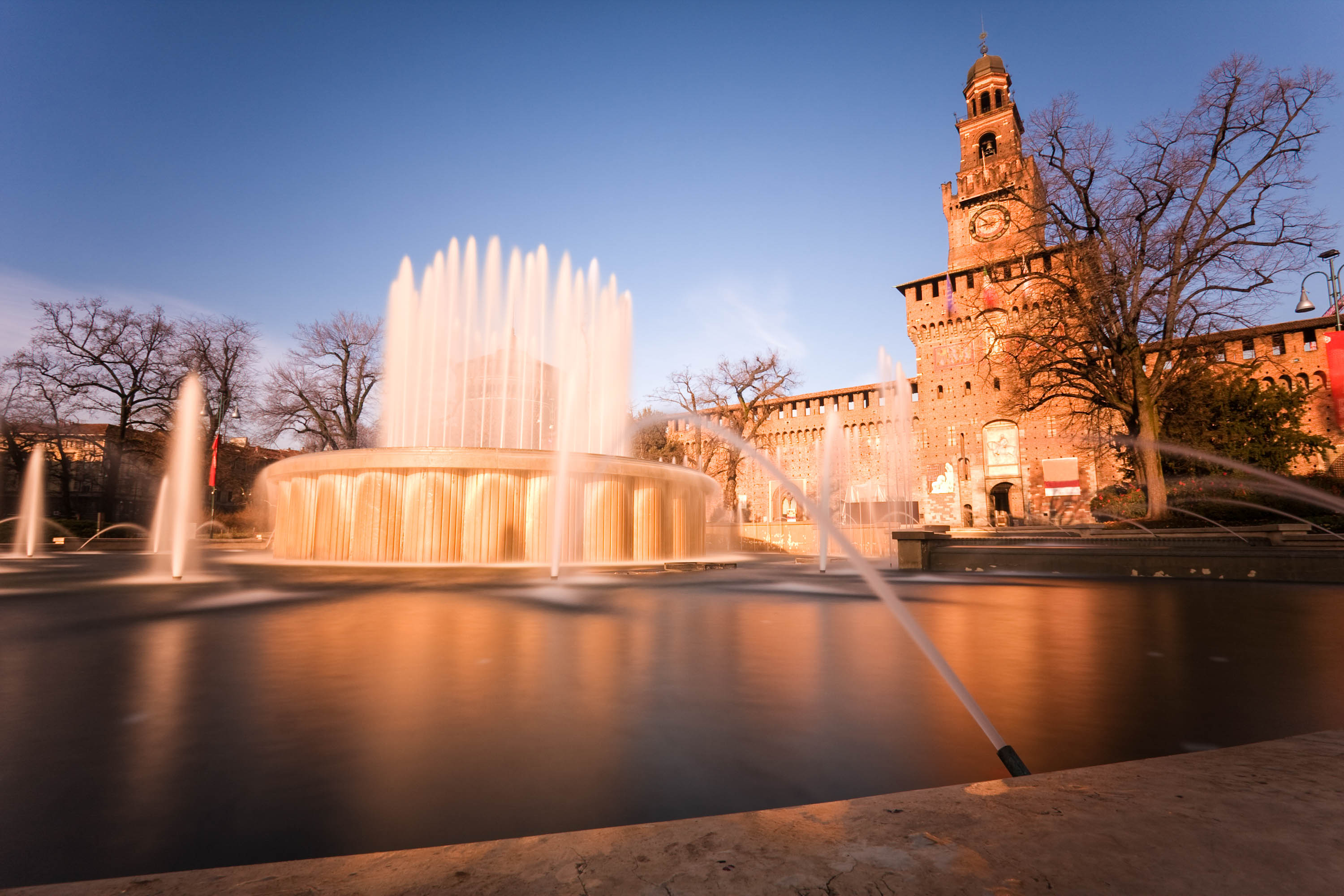 Castello Sforzesco in Milan,using nd filter to allow longer exposures.