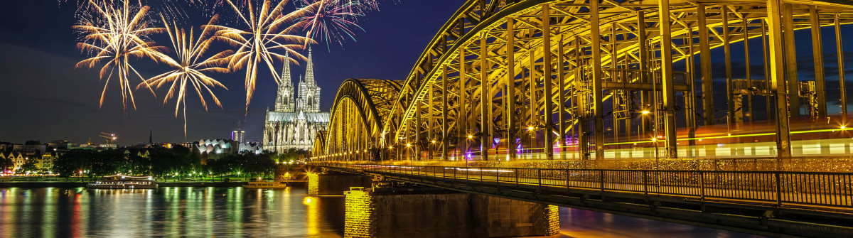 Fireworks Celebration at Cologne Germany