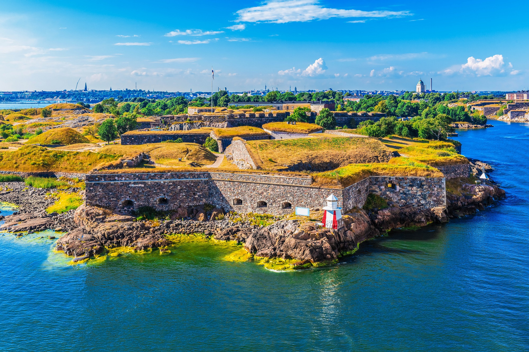 aerial view of Suomenlinna (Sveaborg) sea fortress in Helsinki, Finland shutterstock_166214942-2