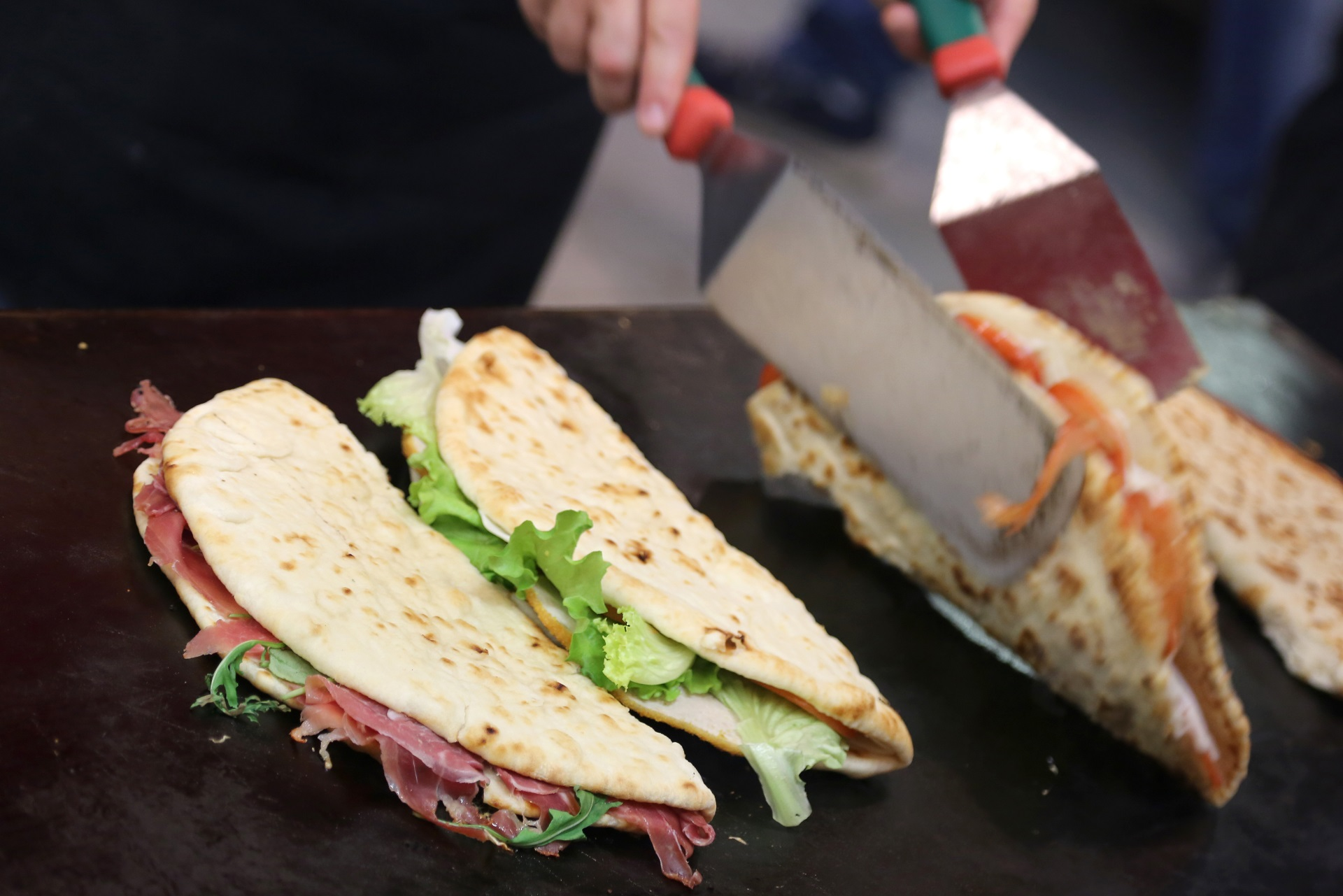 Typical Italian piadinas