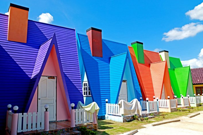 colorful-house-in-resort-on-blue-sky-shutterstock_444075982
