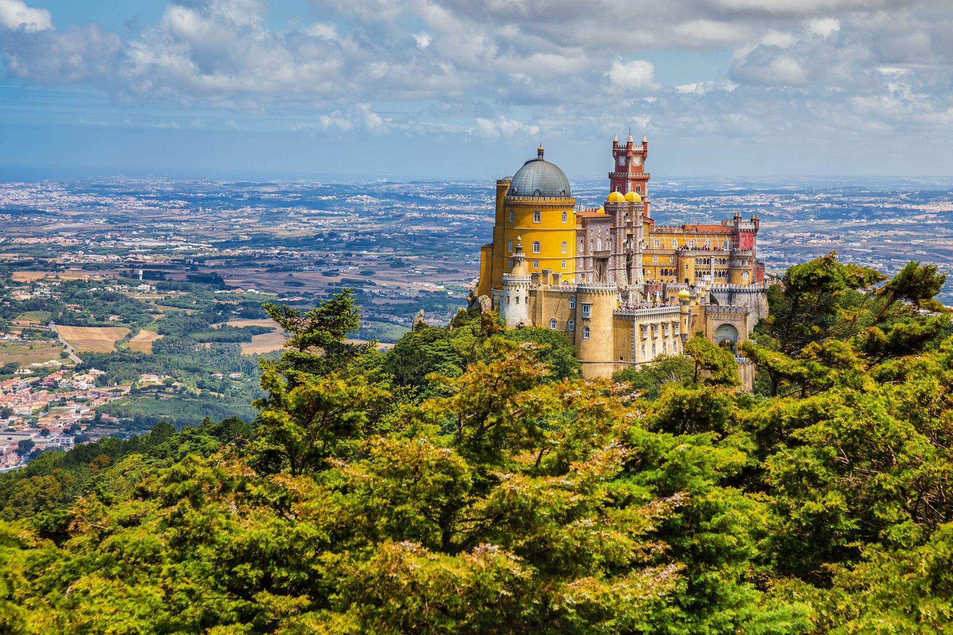 Panorama des Pena National Palace in Sintra