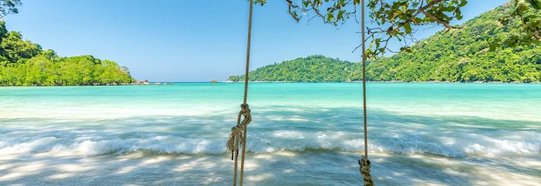Beautiful tropical beach at Surin Island , Thailand