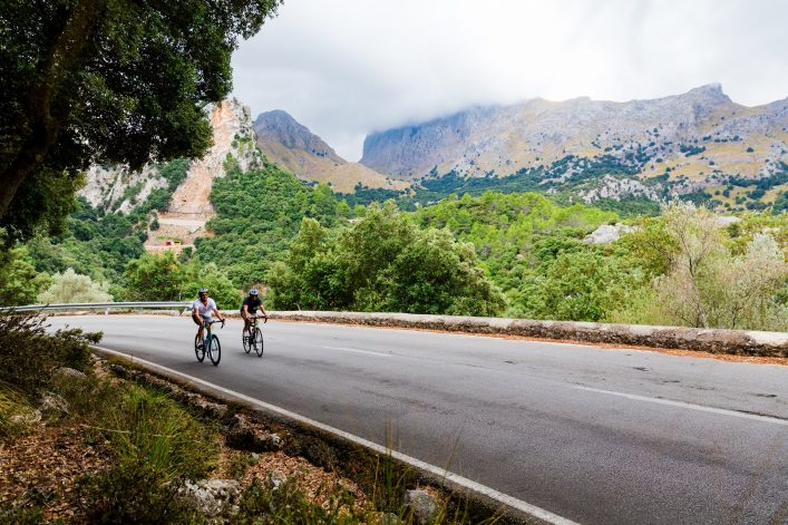 Cyclists-riding-up-the-Puig-Major-peak-in-Majorca-Spain-shutterstock_666878110