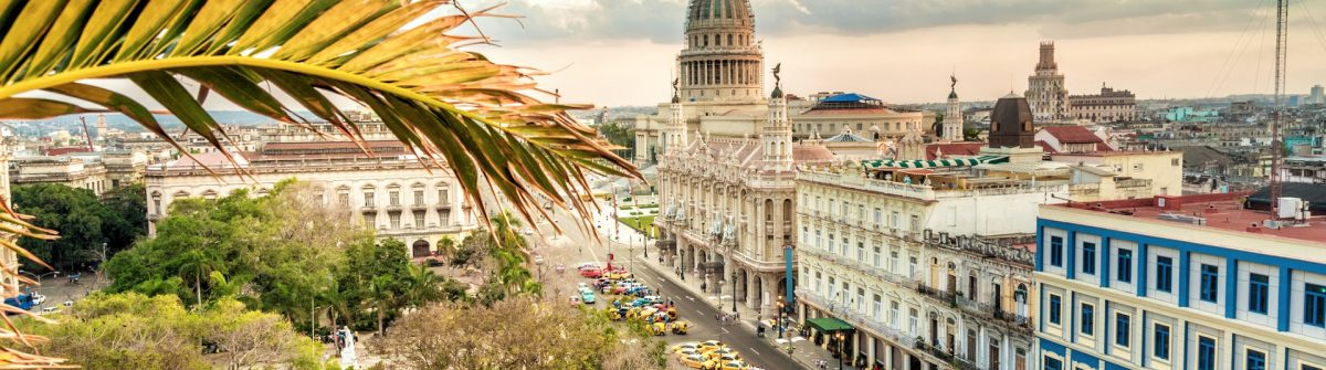 Havanna citscape with Capitol at sunset hour