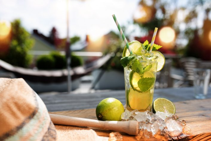 Fresh mojito cocktail in summer