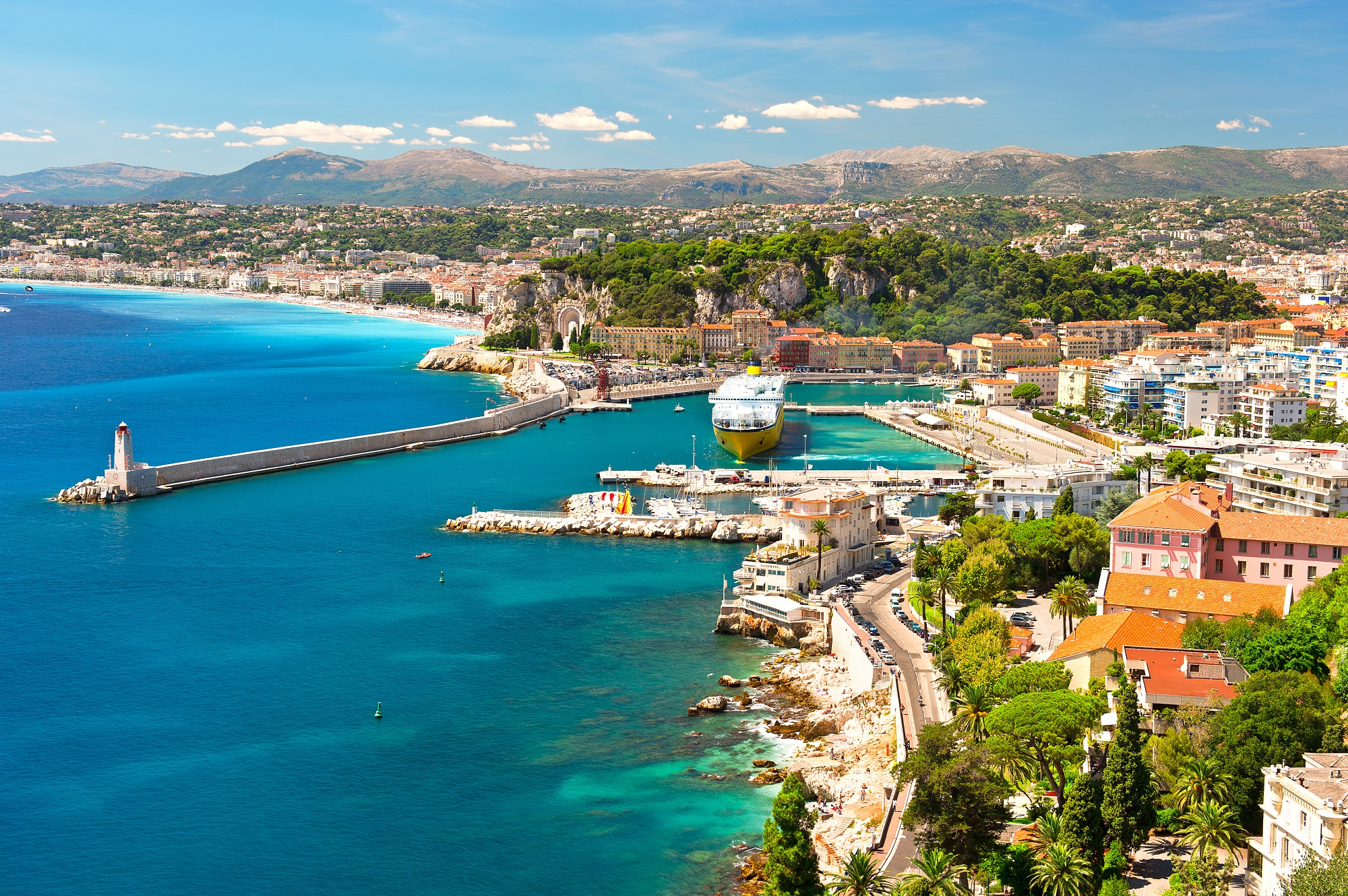 View of Nice, mediterranean resort, Cote d'Azur, France_shutterstock_93856414