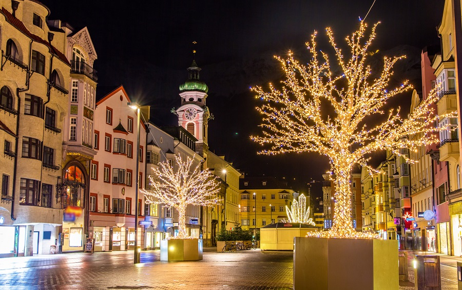 Christmas decorations in Innsbruck – Austria