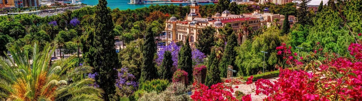 Aerial-view-of-Malaga-taken-from-Gibralfaro-castle-including-port-of-Malaga-Alcazaba-castle-and-the-Cathedral-Andalucia-Spain.-Image-shutterstock_569945386_1920x1280