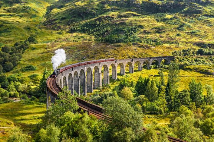 shutterstock_351622814_Glenfinnan-Railway-Viaduct-in-Scotland-with-the-Jacobite-steam-train-passing-over_900x600