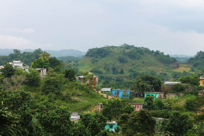 Houses-and-shacks-nestled-among-the-tropical-forest-Nine-Mile-Jamaicashutterstock_1021216525