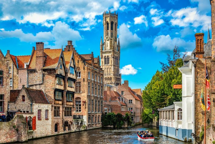 View from the Rozenhoedkaai in Bruges