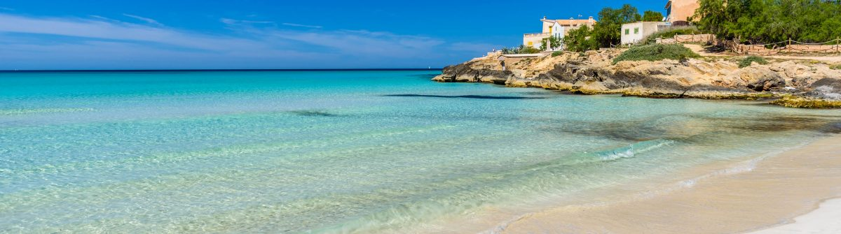 Beach Es Trenc – beautiful coast of Mallorca, Spain