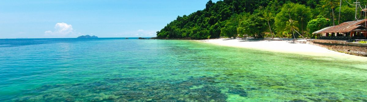 Paradise beach in kohngai island at trang Thailand