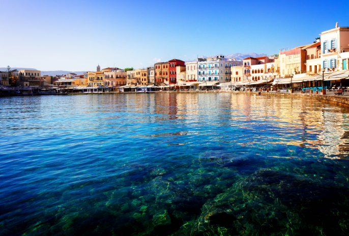clear-turqiouse-water-of-Chania-habour-at-sunny-day-Crete-Greece-shutterstock_371030150-2