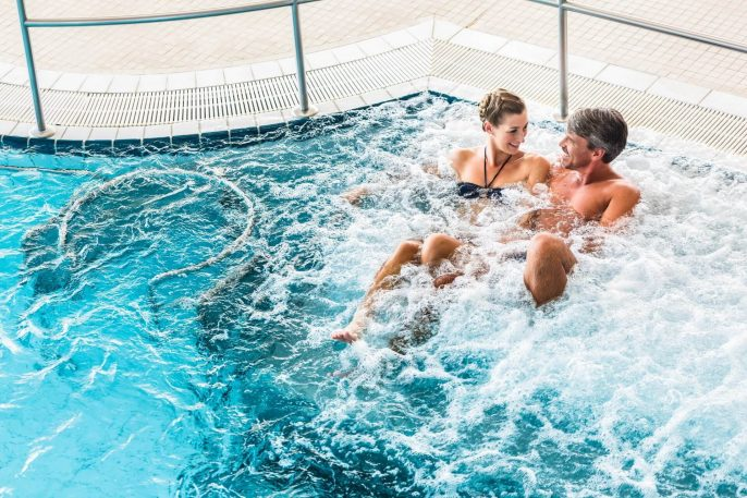 Couple in Thermal Wellness Spa