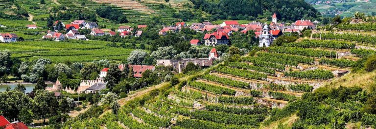 View-over-terraced-vineyards-to-Durnstein-Wachau-Lower-Austria-iStock_000031077984_Large-2